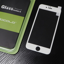 New Product Mobile Phone Cases 0.33mm 3D White Full Cover Glass Screen Protector For Iphone 6 4.7inch With Packaging