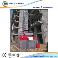 Rack and pinion Construction Hoist Elevator for both material and human