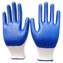 13G nylon glove with Super Quality Nitrile plam dipped/ Nylon Working Glove/Safety glove