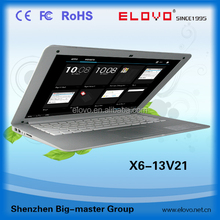 color 13.3 inch dual core Android laptop computer VIA WM8880 wifi and ether laptop computer 1g ram 8g rom laptop 13.3inch