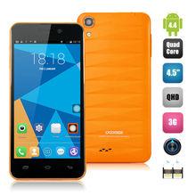 4.5 Inch DOOGEE DG800 Creative Back Touch 1GB 8GB Android 4.4 MTK6582 Quad-core 1.3GHz OTG OTA Smart Somatosensory Yellow