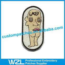 Slim Embroidery Patch design with iron on backing