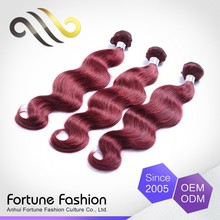 Nice Quality Bright And Smooth Human Color Red Colored Micro-Bead Hair Extensions Weaving