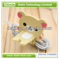 New Fashion Rilakkuma Bear Strap silicone Rubber Earphone Cute Cable Winder/wire manager