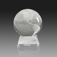 Personalization k9 award with base optical glass with ball engraving blank global trophy crystal