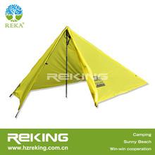 yellow light folding tent