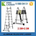 telescópica escadas de etapa de recurso e material de alumínio escada decoração de natal