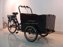UB 9019E 6 speeds power assist three wheels electric cargo bike bakfiet/reverse trike electric/electric cargo bike