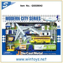 1 87 scale die cast truck toy metal plane airport toy