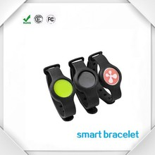 Waterproof silicone blurtooth bracelet smart watch