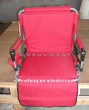 Portable folding stadium chair /heavy duty stadium seat with armrest
