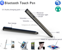 bluetooth touch pen with 3.5mm audio talking function for all device with screens for top grade markets