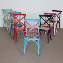 RCH-4001-3 french style solid wooden cross back dining chair