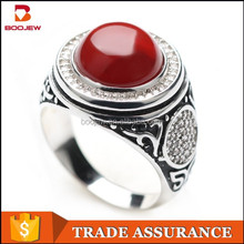 925 sterling silver jewelry fashion men ring silver ring rock style