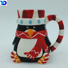 China christmas gift glaze snowman ceramic coffee mug for children