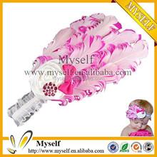 Wholesale pearl rhinestone baby hair accessories headbands 2015