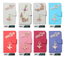 Small moq bling glitter diamond flip case for promotion