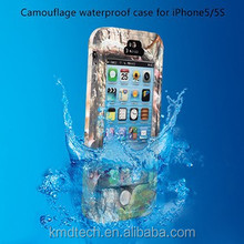 2015 New Designer Camouflage Printed Waterproof Shockproof Dirtproof Cover Phone Case for iPhone 5S