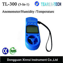 Professional 0.3 to 30m/s Wind speed meter / Mini Anemometer with Hold function