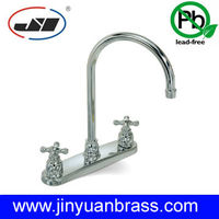 Lead Free brass Two Handle Kitchen Faucet