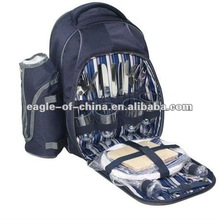 Top quality eco-friendly 4 person blue thermal cooler picnic bag