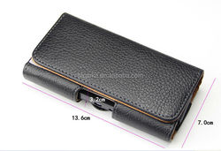 """Leather Horizontal Belt Clip Holster Pouch Case For Apple iPhone 6 4.7"""" inch"""