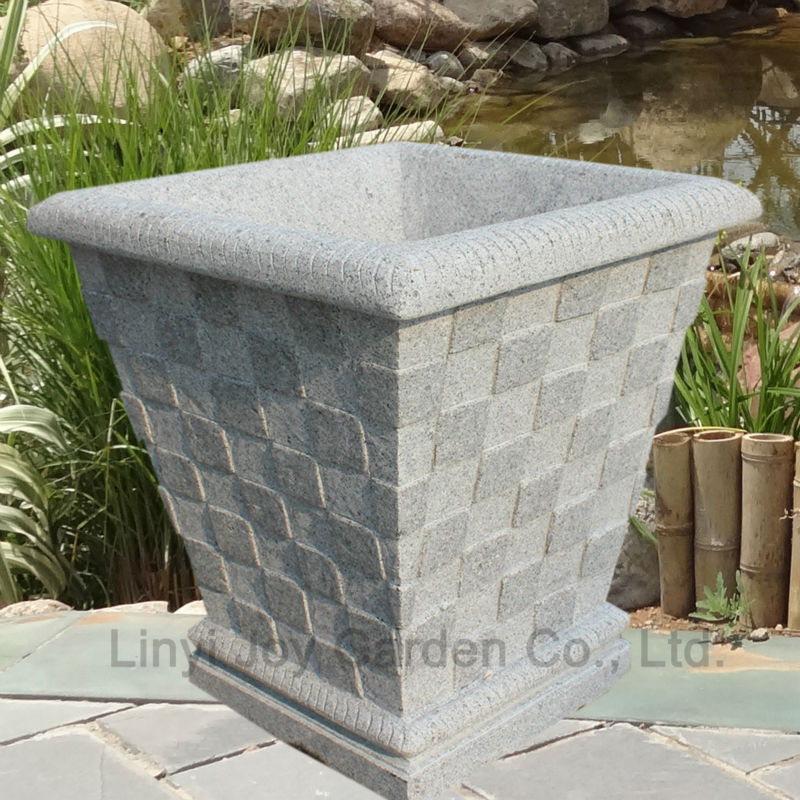 Hot Sale Outdoor Decorative Plant Pot Large Stone Garden Pot View Garden Pot