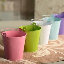 ev dekorasyon aksesuarları küçük demir davul çok renkli vazo toptan düğün dekorasyon için ücretsiz nakliye