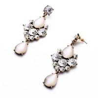 Fashion Vintage Luxury Opal European Jewel Gold Earring