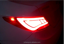 2008-2013 Hyundai Accent/Verna/Solaris Led taillights tail light lamp L+R Red Clear