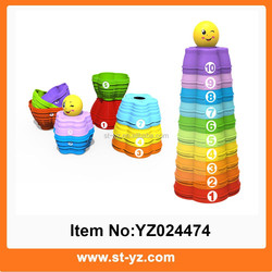 2015 Newest funny animal baby stacking cups toys baby toy cup educational suction cup toy