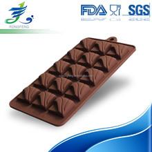 Eco-friendly colorful food grade silicone chocolate molds, silicone candy molds, silicone ice molds