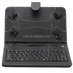 Free shipping 7 inch Leather Keyboard Stand Case For 7 inch 8 inch 7.7 inch Q88 tablet pc case with keyboard and touchpad