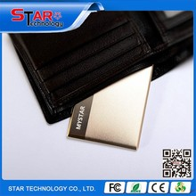 Hot selling new product 2015 portable slim credit card gold shape power bank for android and iPhone smart phone