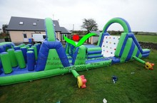 inflatable PVC Tarpaulin game inflatable green obstacle game inflatable washed off game