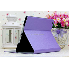 For Ipad mini silk leather folded stand protective case
