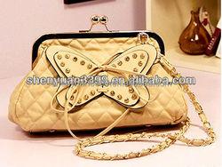 Latest design hobo bag women pu shoulder bag tote bag fashion ladies handbag with delicate butterflies
