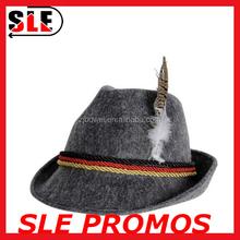 2016 Cheap Felt Germany Oktoberfest Hats,Alpine Hats With Feather