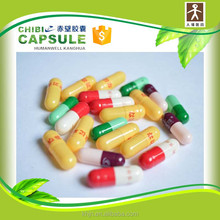 capsule shell in different size and color with logo printing