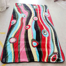 Hot-sale branded acrylic knit jacquard blanket