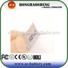 1mm super thin li-polymer battery 012020 3.7v 14mah for reading pen