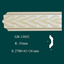 European-style waterproof wall decor and home accents PU wall trim molding