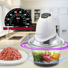 Jialian New Design High Effcetive Electric Chopper with Glass container