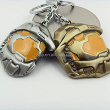 Two Color Halo Spartan Assault Mask Metal Keychain Fashion Mask Key Chains