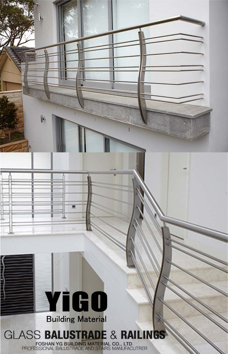 Prices of stainless steel balcony railing balcony for Steel balcony