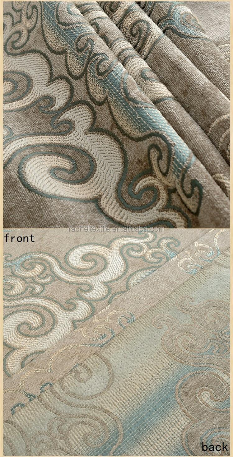 Zachte zware chenille stoffen klassieke jacquard europese ontwerp ...