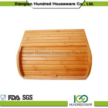 100% Bamboo material bamboo box for bread cake, bamboo bread storage box food safe oiled finishing packaging box