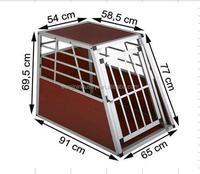 Big single Aluminium Singles Dog Pet Cage Transport Crate Travel Carrier Box Safe Secure