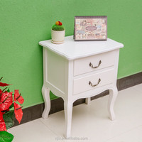 European wooden night stand with two drawers