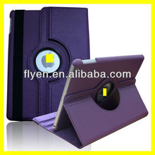 purple Case For Apple iPad 5 Air 360 Degree Rotating PU Leather Cover Stand